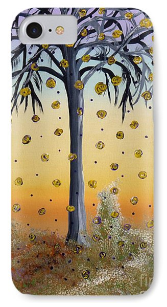 Yellow-blossomed Wishing Tree Phone Case by Alys Caviness-Gober