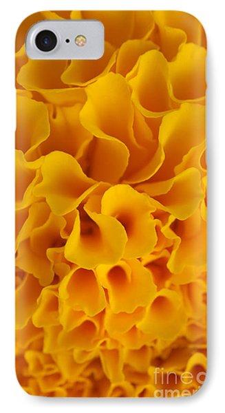 Yellow Marigold Macro View Phone Case by Atiketta Sangasaeng