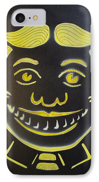 Yellow On Black Tillie Phone Case by Patricia Arroyo