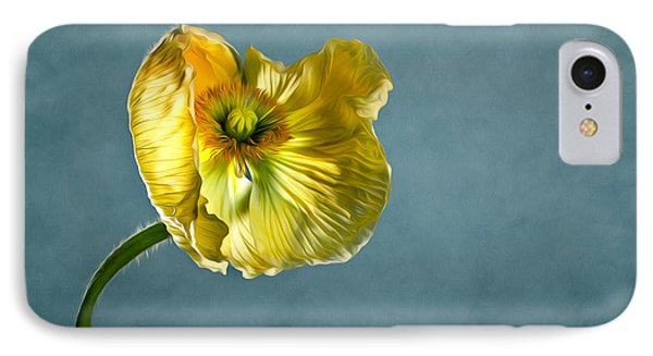 Yellow Poppy IPhone Case by Nailia Schwarz
