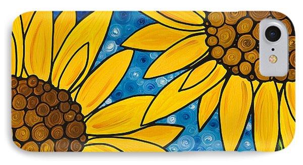 Yellow Sunflowers Phone Case by Sharon Cummings
