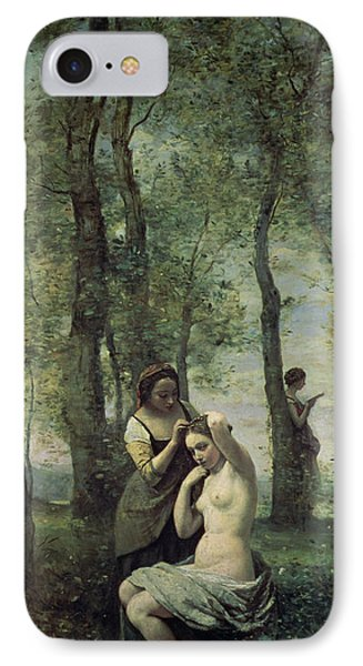 Young Woman At Her Toilet Phone Case by Jean Baptiste Camille Corot