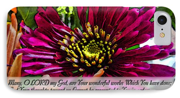 Your Wonderful Works Phone Case by Debbie Portwood