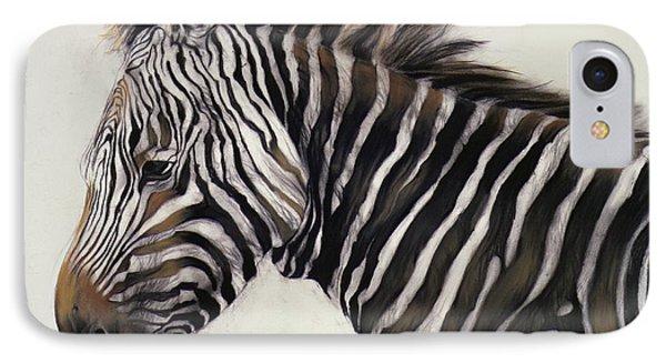 Zebra  IPhone 7 Case by Odile Kidd