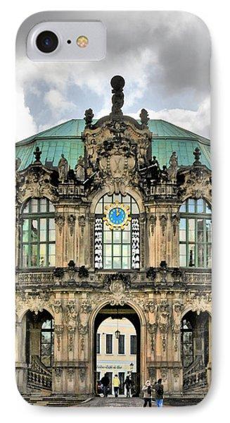 Zwinger Dresden - Carillon Pavilion - Caution Fragile Phone Case by Christine Till
