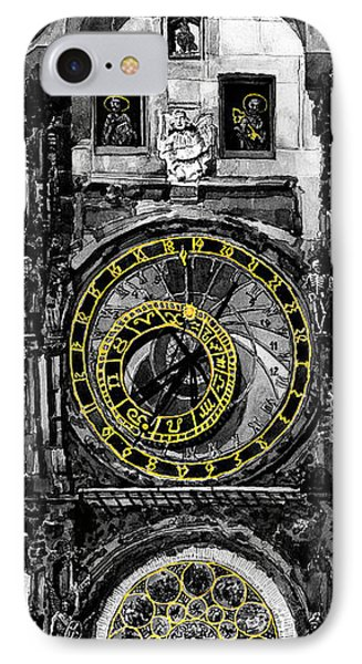 Bw Prague The Horologue At Oldtownhall IPhone Case by Yuriy  Shevchuk