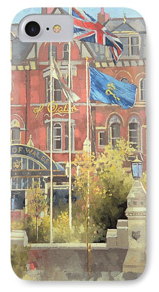 Flags Outside The Prince Of Wales IPhone Case by Peter Miller