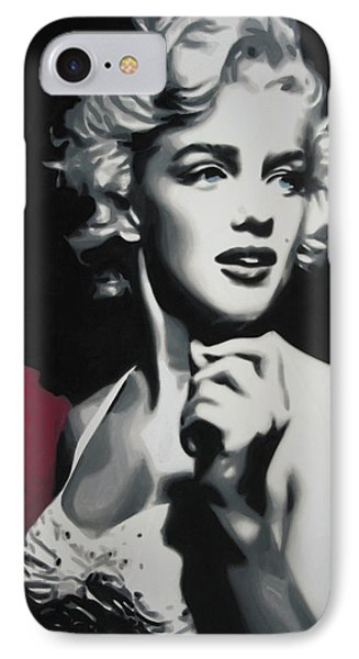 - Marilyn -  IPhone Case by Luis Ludzska