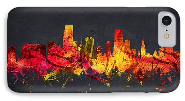 Miami Cityscape 07 IPhone Case by Aged Pixel