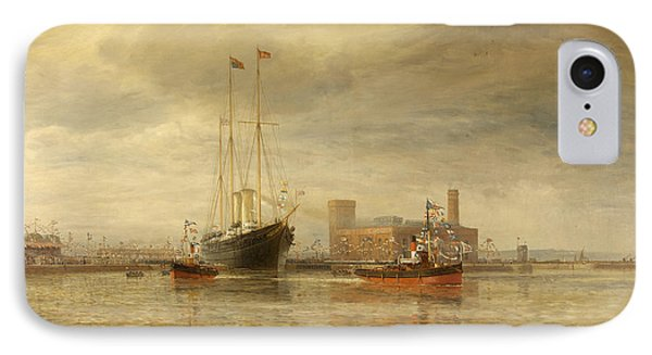 Opening Of The Royal Edward Dock, Avonmouth IPhone Case by Arthur Wilde Parsons