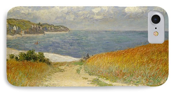 Path In The Wheat At Pourville IPhone Case by Claude Monet