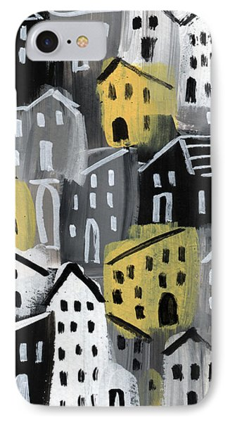Rainy Day - Expressionist Art IPhone Case by Linda Woods