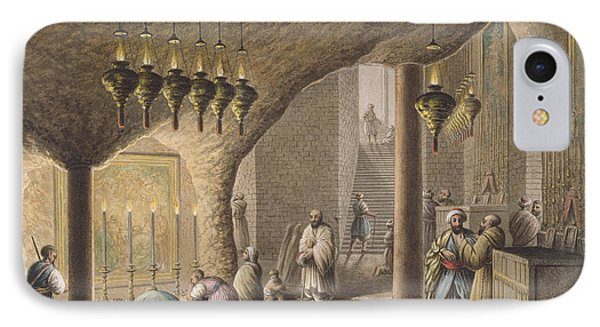 The Grotto Of The Nativity In Bethlehem IPhone Case by Luigi Mayer