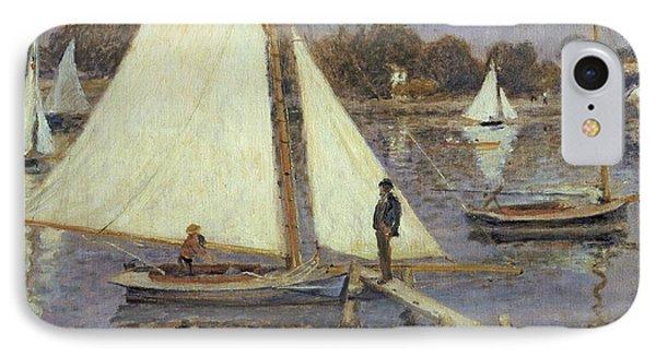 The Seine At Argenteuil Phone Case by Pierre Auguste Renoir