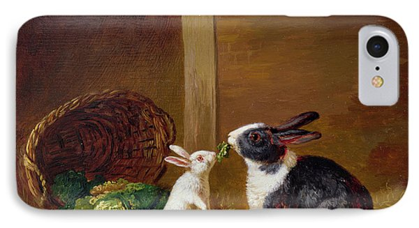 Two Rabbits IPhone 7 Case by H Baert