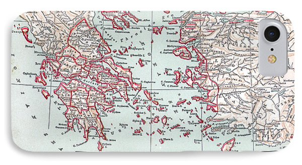 Map: Ancient Greece Phone Case by Granger