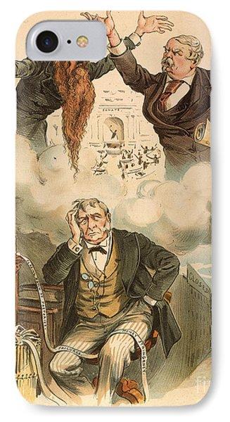 Cartoon: Panic Of 1893 Phone Case by Granger