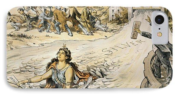 Free Silver Cartoon, 1890 Phone Case by Granger