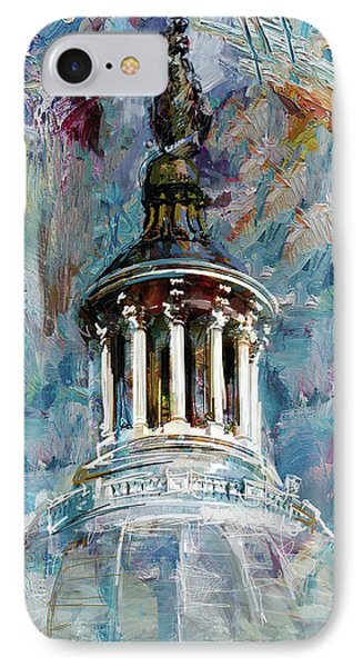 063 United States Capitol Dome IPhone Case by Maryam Mughal