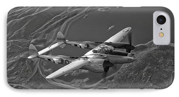 A Lockheed P-38 Lightning Fighter Phone Case by Scott Germain