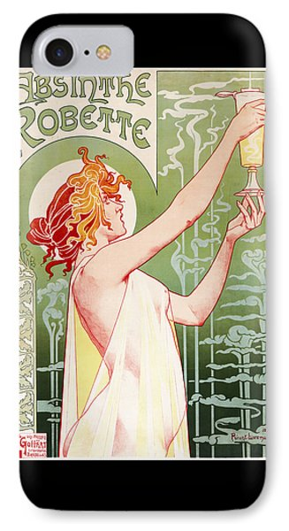 Absinthe Robette IPhone Case by Henri Privat-Livemont