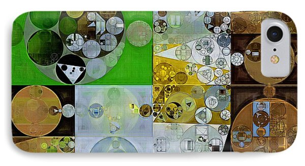 Abstract Painting - Pesto IPhone Case by Vitaliy Gladkiy