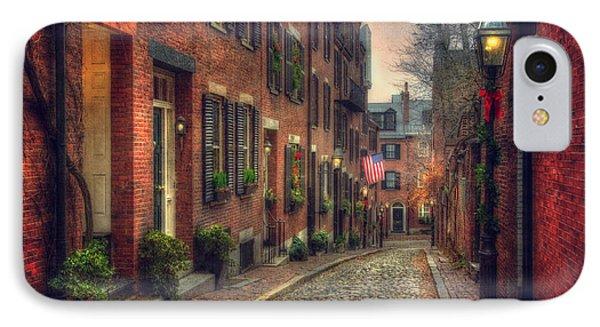 Acorn Street - Boston IPhone Case by Joann Vitali