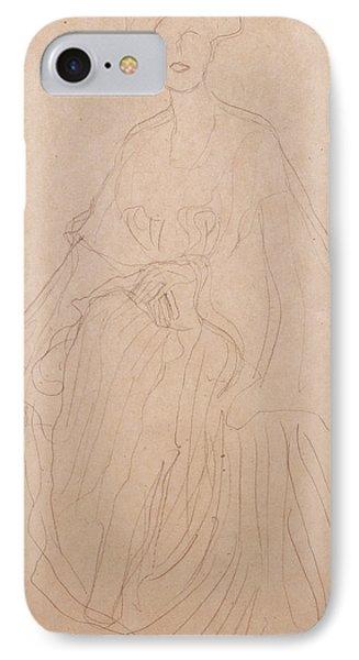 Adele Bloch Bauer IPhone Case by Gustav Klimt