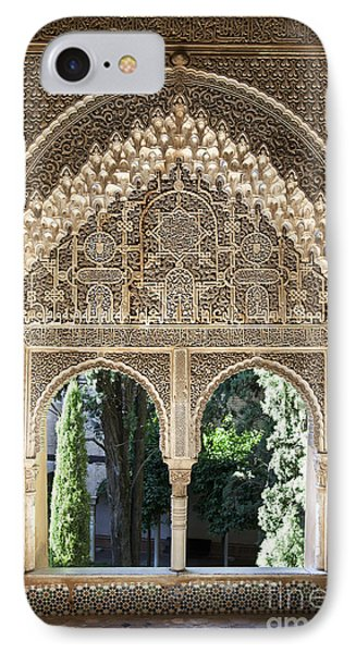 Alhambra Windows IPhone Case by Jane Rix