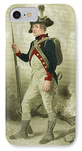 American Continental Soldier IPhone Case by Photo Researchers