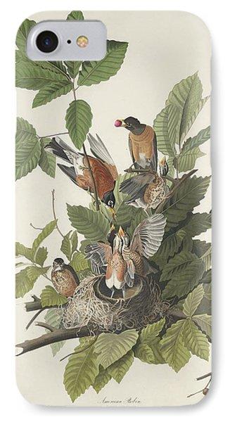 American Robin IPhone 7 Case by John James Audubon