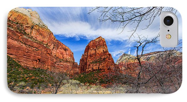 Angels Landing IPhone Case by Chad Dutson