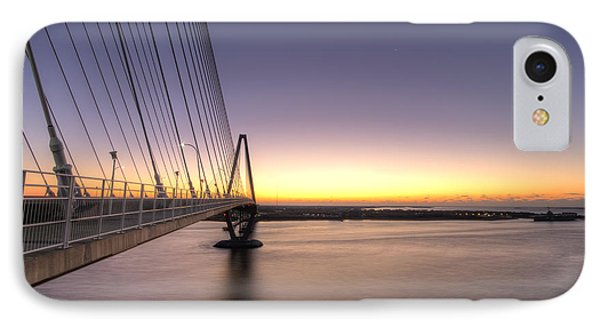 Arthur Ravenel Jr Bridge Sunrise IPhone Case by Dustin K Ryan