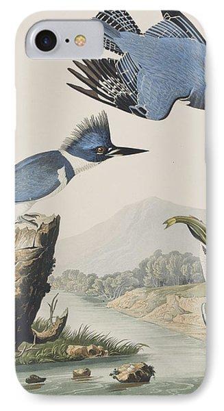 Belted Kingfisher IPhone Case by John James Audubon