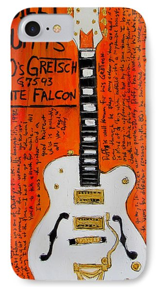 Billy Duffy Gretsch White Falcon Phone Case by Karl Haglund