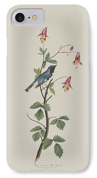 Black-throated Blue Warbler IPhone 7 Case by John James Audubon