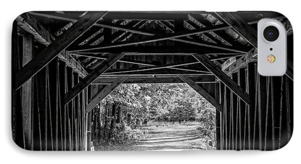 Blow Me Down Covered Bridge Cornish New Hampshire IPhone Case by Edward Fielding