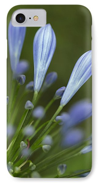 Blue Flowers IPhone Case by Nailia Schwarz