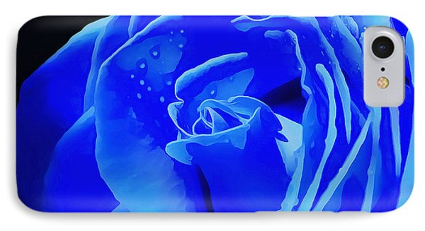 Blue Romance IPhone Case by Krissy Katsimbras