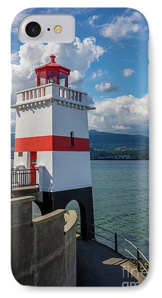 Brockton Point Lighthouse IPhone Case by Inge Johnsson