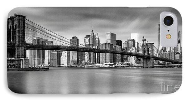 Brooklyn Bridge Panorama IPhone Case by John Farnan
