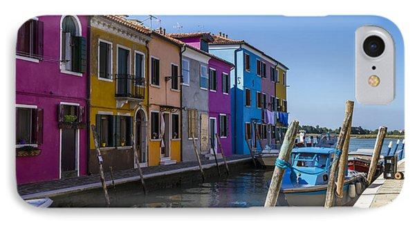 Burano Colorful Italian Island IPhone Case by Melanie Viola