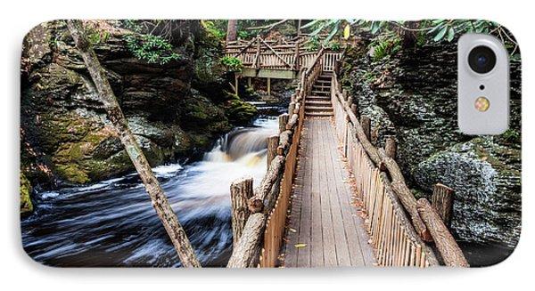 Bushkill Falls State Park Autumn Pennsylvania Usa IPhone Case by Vishwanath Bhat