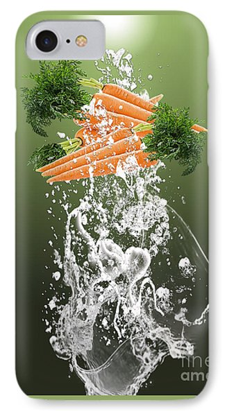 Carrot Splash IPhone Case by Marvin Blaine