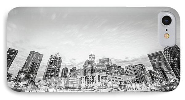 Charlotte Skyline Black And White Photo IPhone Case by Paul Velgos