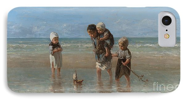 Children Of The Sea IPhone Case by Jozef Israels