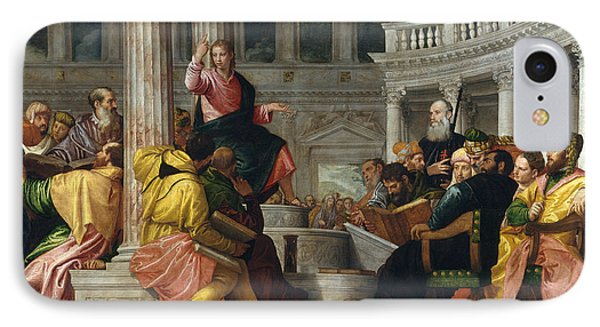 Christ Among The Doctors In The Temple IPhone Case by Paolo Veronese