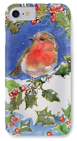 Christmas Robin IPhone 7 Case by Diane Matthes