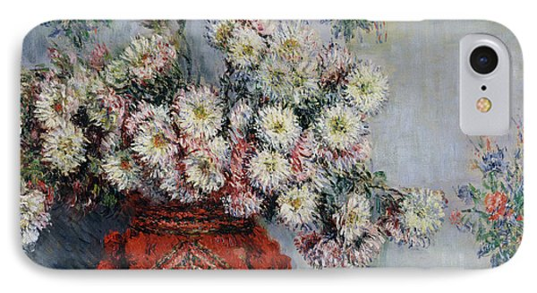 Chrysanthemums Phone Case by Claude Monet