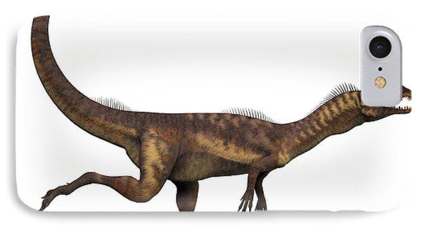 Dilophosaurus Dinosaur IPhone Case by Corey Ford
